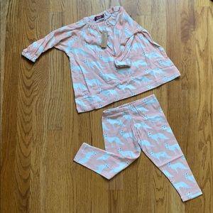 Milkbarn 12-18 month set. Pink fox NWT